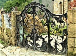 Ворота кованые В-8 Цена по запросу и Вашим размерам