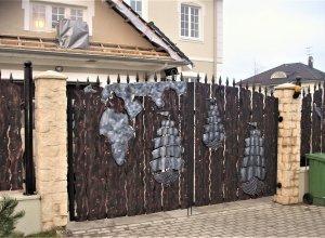 Ворота кованые В-12 Цена по запросу и Вашим размерам