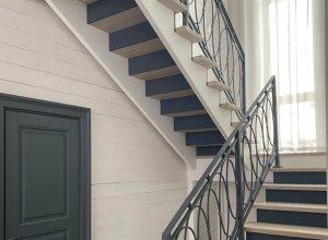 кованые овалы на лестницу