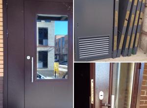 Подъездные двери, технические.Сертифицирована ГОСТ 31173-2003 и ГОСТ 53307-2009 Цена по запросу и Вашим размерам