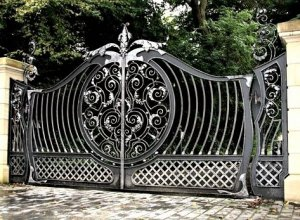 Ворота кованые В-9-1 Цена от 19500 руб. м2. Точный расчет по Вашим размерам и запросу