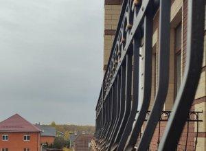 Дутый кованый балкон Н, Точный расчет по запросу и Вашим размерам