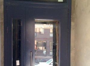 Дверь тамбурная со стеклом.Сертифицирована ГОСТ 31173-2003 и ГОСТ 53307-2009 Цена по запросу и Вашим размерам