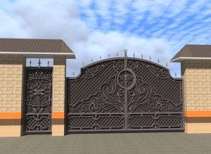 Проект ворот и калитки Цена от 28000руб. м2. Точный расчет по Вашим размерам и запросу