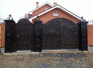Ворота и калитка кованые ЛО-1 Цена от 10500 руб.м 2 Точный расчет по Вашим размерам и запросу