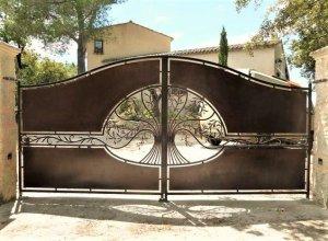 Ворота кованые В-2 Цена по запросу и Вашим размерам