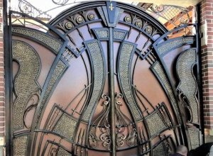 Ворота кованые В-13 Цена от 22500 руб. м2. Точный расчет по Вашим размерам и запросу