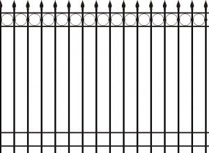 Забор металлический, эскиз Цена от<del> 2500</del> <strong>1500</strong> руб.