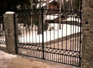 Ворота кованые В-3 Цена от 6000 руб. м2. Точный расчет по Вашим размерам и запросу