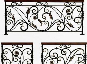 Эскиз кованого балкона