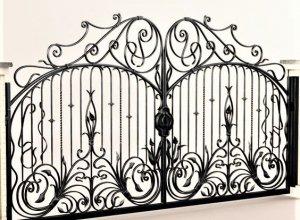 Ворота кованые В-5. Цена от 23000 руб. м2. Точный расчет по Вашим размерам и запросу