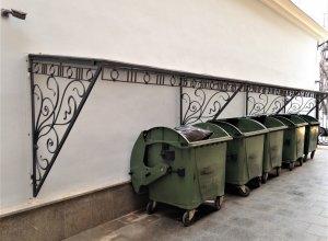 Кованый навес над мусоркой Цена по запросу и Вашим размерам
