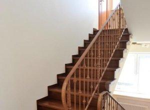 Облицовка бетонной лестницы, перила ковка БО-1 Цена по запросу и Вашим размерам