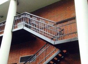 Лестница металлическая, уличная Л-107 Цена по запросу и Вашим размерам