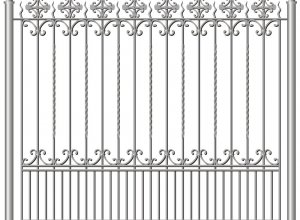 Забор ковка, металл-эскиз Цена по запросу и Вашим размерам