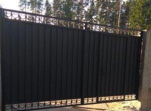 Ворота со встроенной калиткой АН-1 Цена по запросу и Вашим размерам