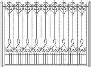 Забор с любым рисунком-эскиз Цена по запросу и Вашим размерам