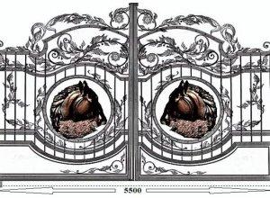 Эскиз ворот кованых, Цена от 28500 руб. м2. Точный расчет по Вашим размерам и запросу