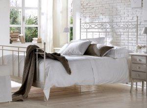 К-707 Белая кованая кровать Цена от<del> 35000</del> <strong>34000</strong> руб. Точный расчет по запросу и Вашим размерам