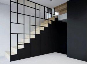 Геометрический рисунок, как ограждения лестницы. Любой размер под ваши пожелания