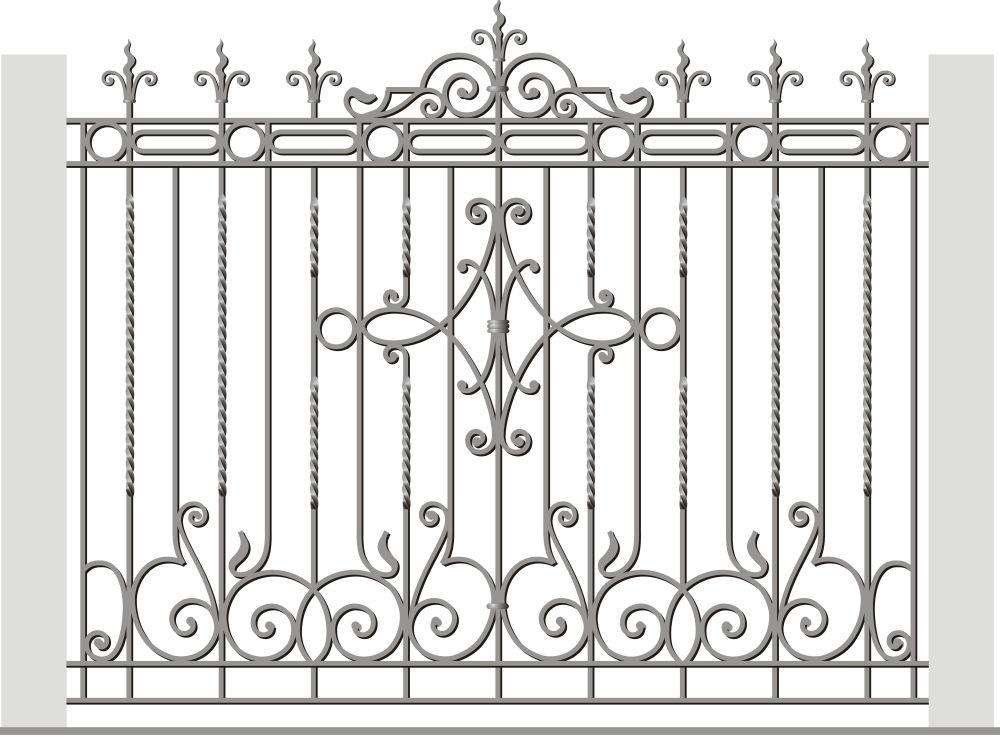 забор с вензелями рисунок картинка фоточки